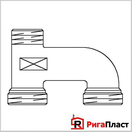 Трубка для подключения радиатора Г-образная для труб из сшитого полиэтилена Stout